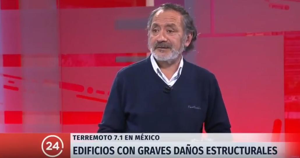 Entrevista a Ricardo Tapia en Canal 24 Horas por terremoto en México
