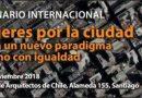 Seminario Internacional Mujeres por la ciudad. Un nuevo paradigma urbano con igualdad